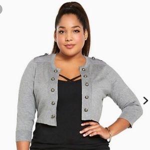 Torrid Military Grey Jacket size 2